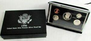 1996 US MINT PREMIER SILVER PROOF SET BOX