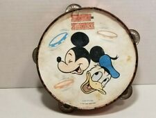 Vintage Mickey Mouse Donald Duck Disney On Parade Tamborine Walt Disney Producti