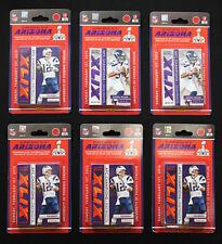 Six 2015 Panini Super Bowl XLIX team packs Tom Brady, Russell Wilson (20 cards)