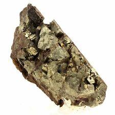 Ludlamite + Pyrite. 1870.1 ct. Salsigne mine, Aude, France. Rare