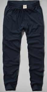 NWT Abercrombie Fitch Men Navy Lounge Sleep Pocket Jogger Pants Size S
