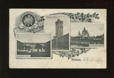 Germany BERLIN M/view Baptist Congress 1908 to Minister at Morrison PPC Faults