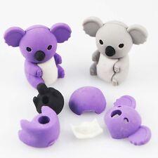 Creative Cartoon Koala Animal Rubber Eraser Stationery Toy Kid Students Gift