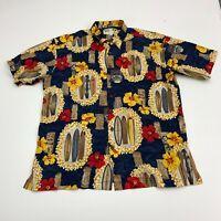 Koko Island Button Up Shirt Mens Size XL Multicolor Short Sleeve Hawaiian Lei
