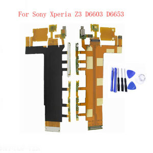 Power Volume On Off Button Switch Key Flex Cable For Sony Xperia Z3 D6653 D6603