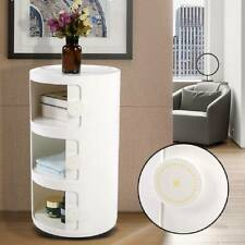 SLIM TALL 3 DRAWERS BEDSIDE TABLE WHITE BEDROOM STORAGE RACK UNIT BATHROOM STAND