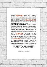 Arctic Monkeys - R U Mine? - Song Lyric Art Poster - A4 Size