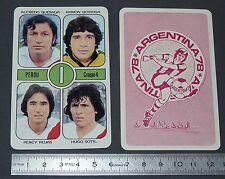 QUIROGA ROJAS SOTIL QUESADA PERU AGEDUCATIFS FOOTBALL ARGENTINA 78 1978 PANINI