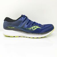 Saucony Mens Ride ISO S20444-4 Blue Running Shoes Lace Up Low Top Size 10