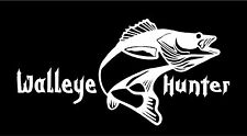 Car truck fishing Wall art Walleye Hunter decal stickers Graphics Boat