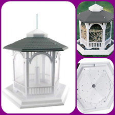 New listing Wild Bird 10 lbs. Plastic Deluxe Gazebo Bird Feeder 6-Ports Easy Fill and Clean
