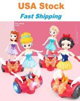 Electric Dancing Girl Ice Princess Balancing Car Elsa Sofia Music/LED Light