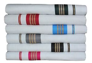 Cotton Mens Onam White SPL Double dhoti with Multicolour Border(1.30 X 3.60 Met