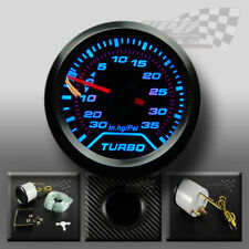"""Boost turbo gauge dash interior 52mm 2"""" (psi) blue led speedo smoked dial face"""