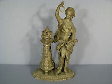 SCULPTURE MOISSONNEUSE EN METAL PEINT / SCULPTURE FEMME A L'ANTIQUE