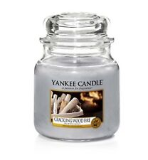 Yankee Candle Crackling Wood Fire Medium Jar Brand New Scent Gift