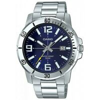 Reloj Analogico CASIO MTP-VD01D-2B - Correa De Acero - Dia Del Mes - 50 BAR