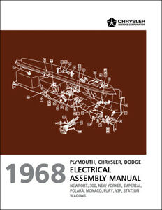 1968 Chrysler Electrical Assembly Manual Wiring 300 Newport New Yorker Imperial