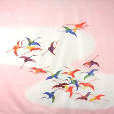 Furoshiki Japanese Wrapping Cloth Large Flying Crane Pink