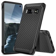 For Samsung Galaxy S10 Plus/S10/S10e/Note 9/8/S9/S8 Carbon Fiber TPU Armor Case