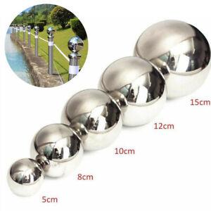 50/100/120/150mm Stainless Steel Mirror Glitter Round Ball Garden Sphere Hollow