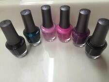 Morgan Taylor Nail Polish Lot Set of 6 Various Shades Full Size  ~New ~ B