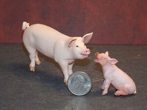Dollhouse Miniature Pig & Piglet 2 inch tall Safari Ltd Animal Dollys Gallery F4