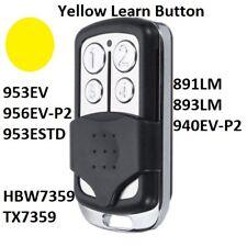Chamberlain Garage Door Opener mini Remote Transmitter Yellow Learn Button 4B