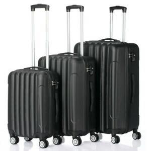 High Quality Hardside 3 Piece Nested Spinner Suitcase Luggage Set w/ TSA Lock