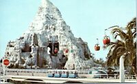 Disneyland Postcard 1970 Matterhorn Tomorrowland Skyway Coca Cola Sign Red AR