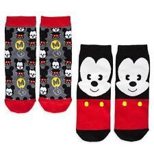 Disney Store Authentic 2pc Mickey Mouse MXYZ Cute Womens Sock Set NWT