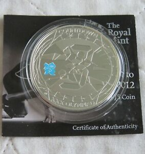 UK 2009 COUNTDOWN TO THE OLYMPICS £5 SILVER PROOF - coa