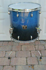 "GRETSCH 14"" CATALINA MAPLE GLOSS BLUE FADE FLOOR TOM for YOUR DRUM SET! #V956"