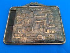 Vintage Las Vegas Nevada Old Casinos Metal Wall Hanger 1960S Japan - Look!