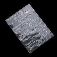 Silicone Transparent Stamp/Seal for DIY scrapbooking/photo album Decorative_