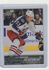 2015-16 UPPER DECK YOUNG GUNS JOSH ANDERSON #217 ROOKIE CARD