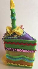 Katherine's Collection W Kleski Birthday Cake Trinket Jewelry Gift Box New Green