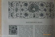 Doughtown Scrip Gold Mining Prospecting New Zealand Sark Ballad Old Article 1884