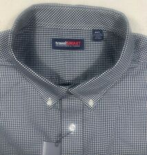 Roundtree & Yorke Travel smart mens size 4XLT tall long sleeve oxford shirt NWT