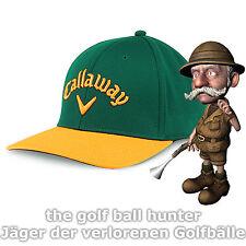 Callaway Ball Park Golf Cap - grün / gelb, small / medium, Herren, Basecap - NEU