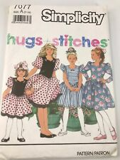 VINTAGE SIMPLICITY #7077 PATTERN FOR CHILD'S SIZES A (7-14) PARTY DRESSES