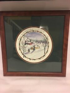 "D Morgan Framed Christmas Art Title ""May Your Days Be Merry And Bright"" 1999"