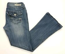 Womens REFUGE KNOCK OUT Skinny Boot Ultra Low Rise Jeans Size 8S Distressed