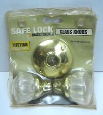 Safe Lock Kwikset Black & Decker Clear Glass Knobs Interior Door Use Only New