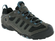 Hi-tec Penrith Low Waterproof Walking Hiking Trainers Grey / Goblin Blue Mens
