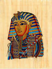 **Rare** Genuine Hand Painted Authentic Egyptian Papyrus (King Tut Ankh-Amon)