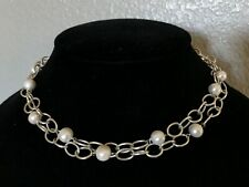 10mm 925 toggle 50g southwest Ips sterling necklace chain 18~36� white pearl