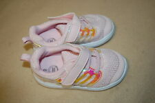 Baby Toddler Girls Pink & Silver Casual Tennis Shoes Athletic Easy Fasten Size 6