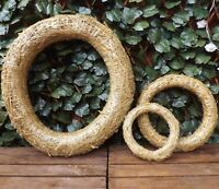 Bound Straw Hay Round Hanging Wreath Home Wedding Easter Christmas