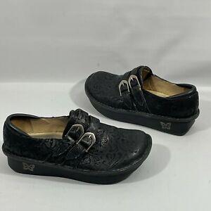 Algeria Womens Shoes 37 (6.5-7) Black Leather Comfort